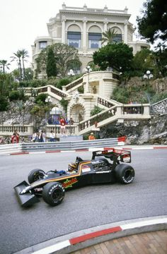 Stefan Bellof drives theTyrrellFord 012 during practice for the Grand Prix of Monaco on 2 June 1984 on the streets of the Principality of Monaco in...