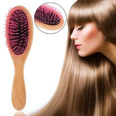 Natural Wooden Massage Airbag Plastic Needle Comb Magic Hairbrush Comb Antistatic Detangling Wooden Combs