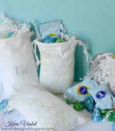 Easter Treat Bags: Pure Color Dye Ink On Fabric