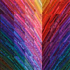 Bargello Quilts, Scrappy Quilts, Lap Quilts, Quilting Projects, Quilting Designs, Quilting Ideas, Crumb Quilt, Watercolor Quilt, Rainbow Quilt