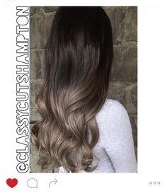 Contrast ash brown hair