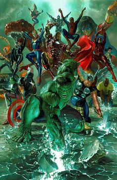 Marvel Legacy #1 variant cover art by Alex Ross, 2017.
