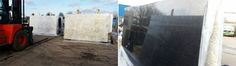Latest pictures - Granite Slabs from Tilbury Stockyard.