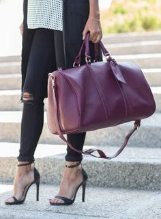 Oxblood weekender bag by Sole Society