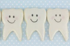 First Tooth Cookies, but instead I think I'll make these for my daughter when she looses her first tooth:)