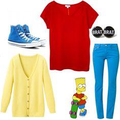 """Outfit Bart Simpson de """"Os Simpsons""""."""