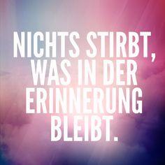 Nichts stirbt... #zitat #deutsch