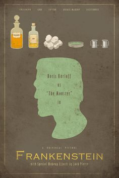 Items similar to Frankenstein - Universal Monsters Series - (Theatrical Size) Movie Poster on Etsy Minimal Movie Posters, Minimal Poster, Horror Movie Posters, Horror Movies, The Frankenstein, Frankenstein's Monster, Monster Mash, Cinema, Bd Comics