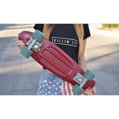 Brandy Melville outfit with penny board