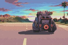road trip - Magical Vacation (Brownie Brown - GBA - requested by ratherhappygirl Aesthetic Gif, Art Videos, Animation, Found Art, Art, Pixel Art Design, Cool Gifs, Scenery, Pix Art