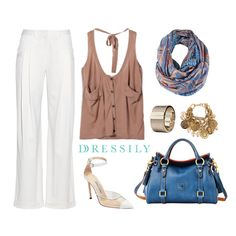 This versatile outfit is great for the office or to go shopping in. Casual, chic and comfy. Work a pop of color in an outfit of neutrals for an unexpected twist. A bag or scarf works just fine! www.dressi.ly