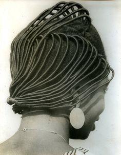African hair sculpture.