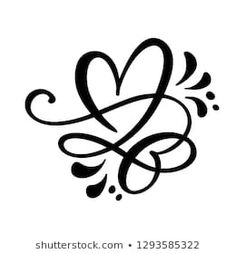 Romantic symbol linked, join, passion and wedding. Design flat element of valentine day. Template for t-shirt, card, poster Body Art Tattoos, Tatoos, Tattoo Zeichnungen, Couple Illustration, Doodle Drawings, Animal Drawings, Letter Wall, Love Signs, Couple Tattoos