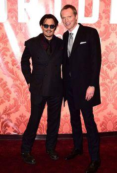 Johnny Depp and Paul bettany Mortdecai premiere