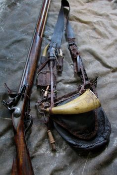 One of the reasons I love hunting and shooting with a flintlock is making the accoutrements or accessories that support it. Some of the stuff I. Weapons Guns, Guns And Ammo, Flintlock Rifle, Black Powder Guns, Powder Horn, Hunting Rifles, Hunting Bags, Long Rifle, Military Guns