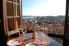 AMAZING view from Chapito (restaurant) in Lisbon, Portugal