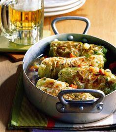 Plnena kapusta - stuffed cabbage Cabbage Recipes, Mexican Food Recipes, Healthy Recipes, Ethnic Recipes, Paella, Quiche, Bavaria, Childhood Memories, Folk Art