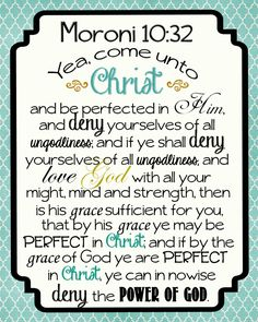 Come Unto Christ - printable with complete scripture