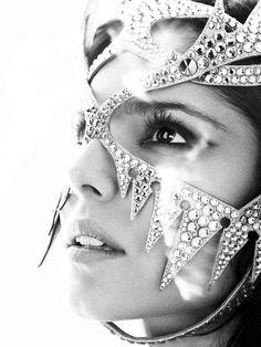 Diamond-Encrusted Masks