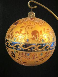 Grand Pavillions Gold Christmas Ornament by Christopher Radko 1010464 New | eBay