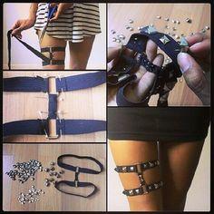 DIY studded garter