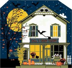 Ball & Chain Tavern, Cat's Meow Halloween 2014 Collection | This Halloween design includes glow-in-the-dark ink. See what else you can find when you turn out the lights.