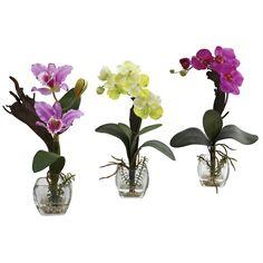 Mixed Orchid w-Cube Arrangements (Set of 3)