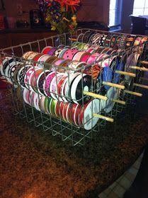 Illustrious Supplies Craft For Kids - Craft Supplies Wallpaper Ribbon Organization, Ribbon Storage, Sewing Room Organization, Craft Room Storage, Craft Rooms, Storage Ideas, My Sewing Room, Sewing Rooms, Space Crafts
