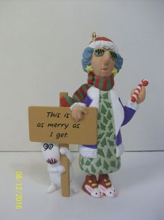 Hallmark Keepsake Ornament 1996 Maxine This is as Merry as I Get QX6224