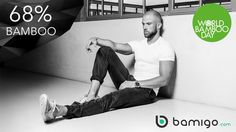 Last friday was World Bamboo Day! Did you know Bamigo is made of 68% Bamboo? Try Bamigo yourself and discover the advantages of this amazing fabric!  www.bamigo.com Slim Fit T-shirts, boxer shorts and socks
