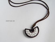 $393 - Chinese Fan. Combossed Silver and Wood Pendants -  SKU: 430651 #BENSE #Jewelries #Pendants --- Materials:S999 + Lobular red sandalwood / Size:4.8CM*3CM --- keywords: online jewellery, fashion jewelry online, rhinestone jewelry, buy jewellery online, jewelry watches,