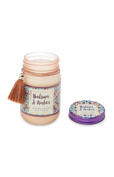 Balsam and Amber Candle