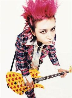 Find Hide biography and history on AllMusic - After starting his career as lead guitarist for… Extreme Metal, Dir En Grey, One Ok Rock, Japanese Artists, Visual Kei, Punk Fashion, Gothic Lolita, Hard Rock, Rock Rock