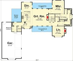 Modern 4 Bedroom Farmhouse Plan - 62544DJ | Architectural Designs - House Plans