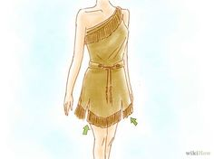 DIY Pocahontas costume...could also make it LONGER and make it for Cleopatra or many other costumes