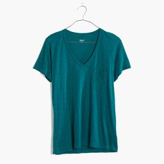 Whisper Cotton V-Neck Pocket Tee : AllProducts | Madewell