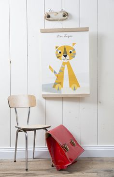 Poster für das Kinderzimmer mit Tiger / cute artprint for the nursery, little tiger by Life is delicious via DaWanda.com