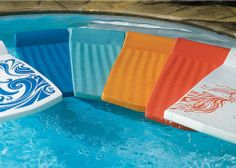 Our World's Finest Pool Float in Sea Blue is designed for incredible full body support and nearly unsinkable buoyancy.