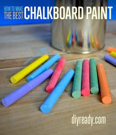 Make DIY Chalkboard Paint At Home - Tutorial   How To   Easy Step by Step Instructions  DIY Ready #diy #projects #chalkboard #paint