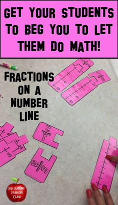 This math station contains 20 total problems in a math station game for students to practice finding fractions on a number line. Line Math, Fifth Grade Math, Fourth Grade, Math Lab, Math Intervention, Math Fractions, Multiplication, Guided Math, Math For Kids