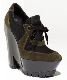 Burberry Suede Wedge Heel Boots