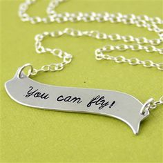 Peter Pan - You Can Fly! Necklace - Spiffing Jewelry