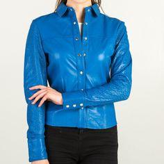 Blue Leather Shirt