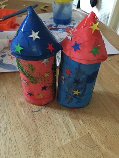 So my son is learning about space, planets and the solar system at nursery so we made some rockets of our own