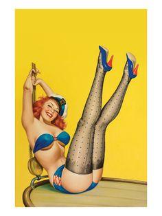 Flirt Magazine; Sailor Girl Pôsters por Peter Driben na AllPosters.pt