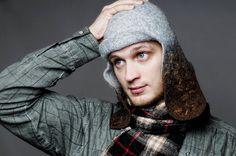 Felted cap for man Grey Brown by jurgaZa  #men #Etsy #EtsyMen