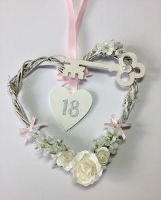 wedding & Birthday good luck keepsake gifts by strawberryletter Girl Birthday, Birthday Gifts, Shabby Chic Hearts, Wedding Planning Timeline, Hanging Hearts, Wooden Hearts, Silk Flowers, Wedding Bride, Brides