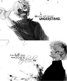 Anime : Tokyo Ghoul credits of the pictures to the owners Deep Quotes Anime Quot. - Anime : Tokyo Ghoul credits of the pictures to the owners Deep Quotes Anime Quotes - Feeling Pictures, Sad Pictures, Sad Anime Quotes, Manga Quotes, Lone Wolf Quotes, Anime Depression, Insulting Quotes, Tokyo Ghoul Quotes, Pinterest Instagram