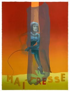 Maitresse IV aus dem Mappenwerk WHAT IF - 2015/2016 - Siebdruck auf Bütten - 106 x 80 cm - Auflage 40 Exemplare - signiert und nummeriert