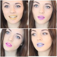 Lily in all four #Flashmob lipstick shades